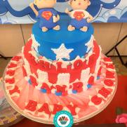 Superbaby & Supergirl cake 1